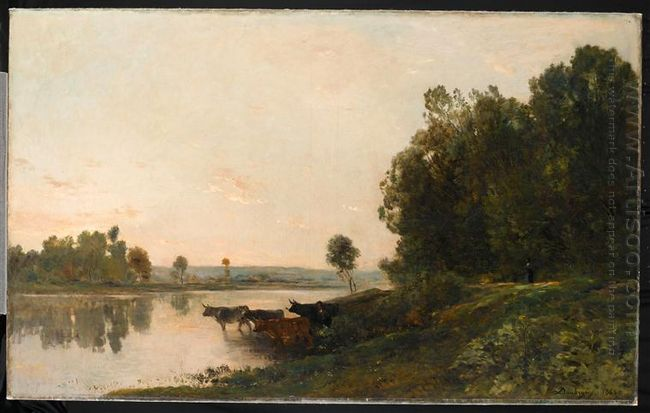 Sunrise Banks Of The Oise 1865