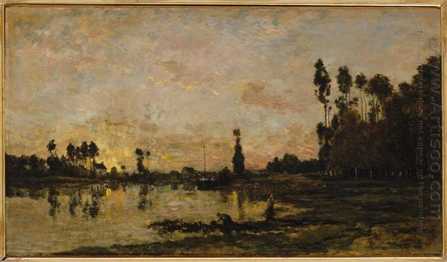 Sunset On The Oise 1865