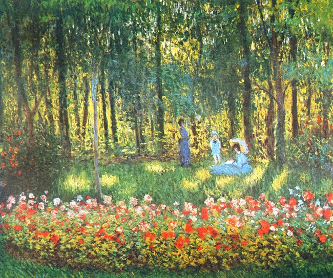 The Artist S Family In The Garden