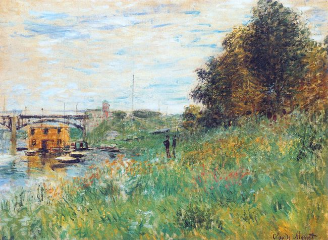 The Banks Of The Seine At The Argenteuil Bridge