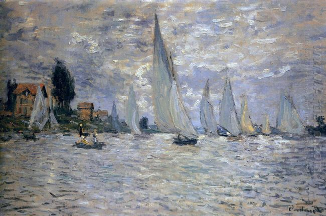 The Boats Regatta At Argenteuil