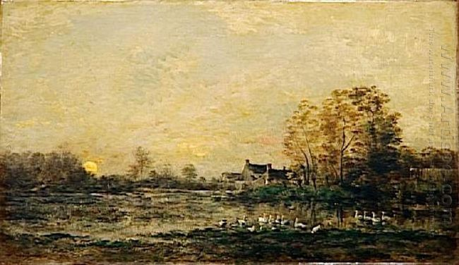 The Bog In The Sunset 1861