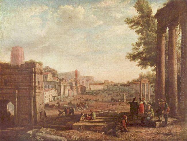 The Campo Vaccino Rome 1636