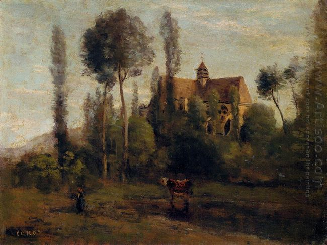 The Church At Essommes Near The Chateau Thierry 1856