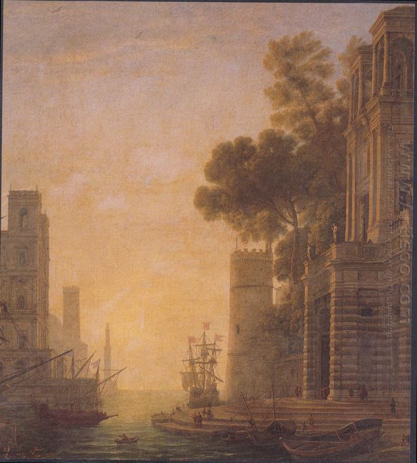 The Embarkation Of St Paula In Ostia