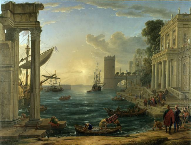 The Embarkation Of The Queen Of Sheba 1648