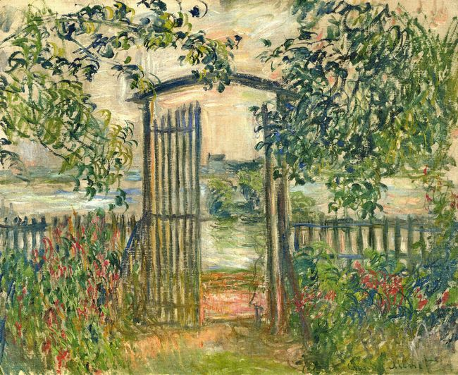 The Garden Gate At Vetheuil 1