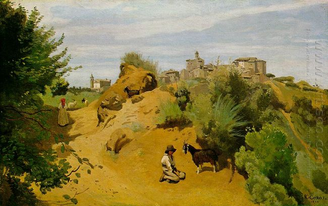 The Goat Herd Of Genzano 1843