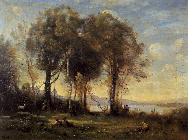 The Goatherds Of Castel Gandolfo 1866