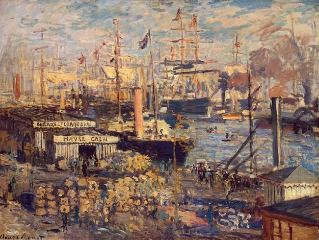 The Grand Dock At Le Havre 1872