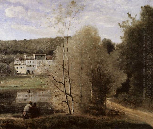 The Pond And The Cabassud Houses At Ville D Avray 1860
