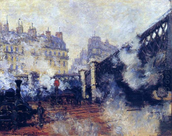 The Pont De L Europe Gare Saint Lazare 1877