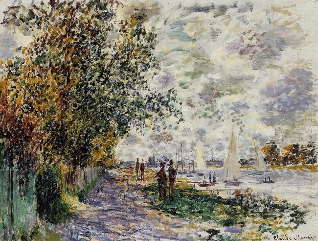 The Riverbank At Petit Gennevilliers