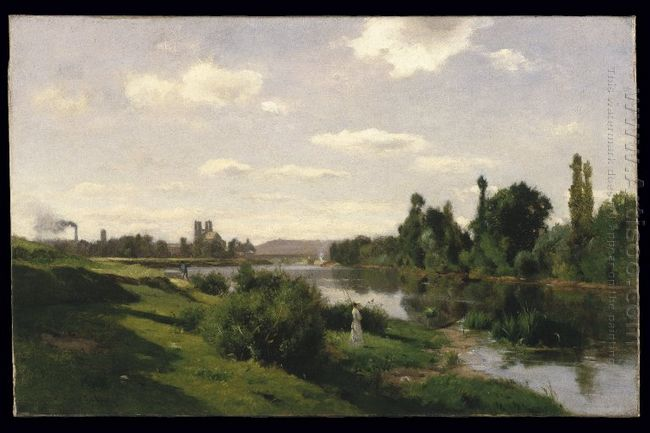 The River Seine At Mantes