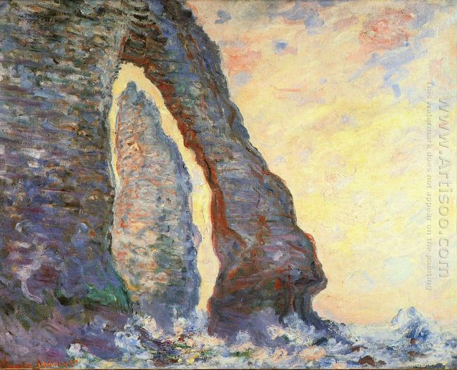 The Rock Needle Seen Through The Porte D Aval 1886