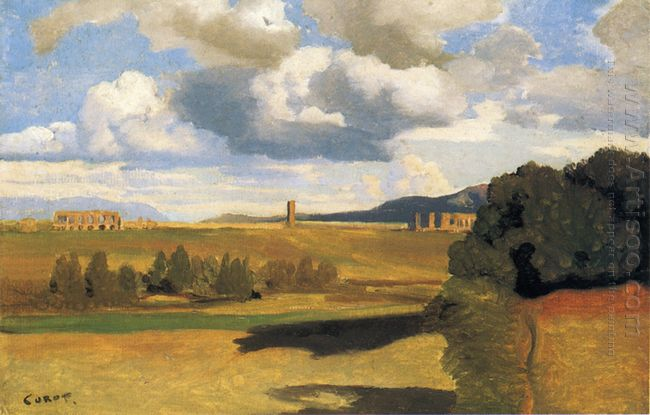 The Roman Campagna With The Claudian Aqueduct 1828