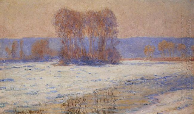 The Seine At Bennecourt Winter