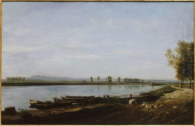 The Seine In Bezons Val D Oise 1851