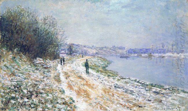 The Tow Path At Argenteuil Winter