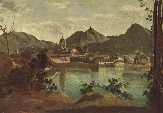 Town And Lake Como 1834