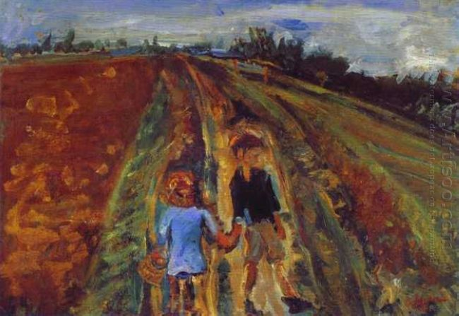 Two Children On A Road 1