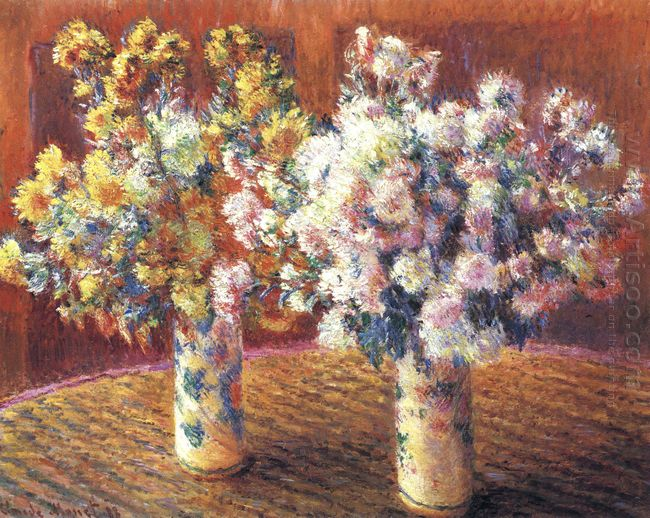 Two Vases With Chrysanthems