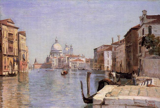 Venice View Of Campo Della Carita Looking Towards The Dome Of Th