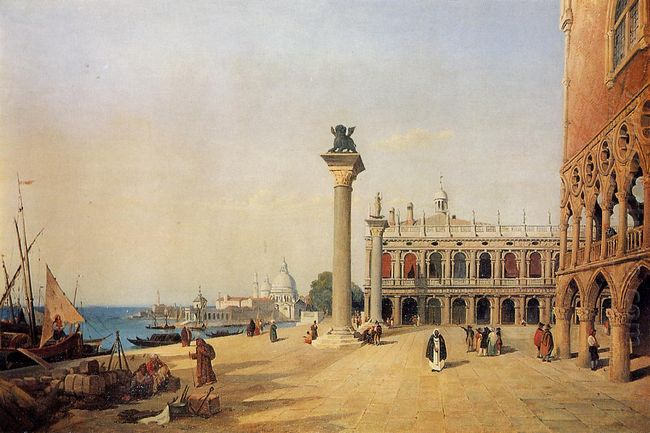 Venice View Of The Esclavons Quay 1834