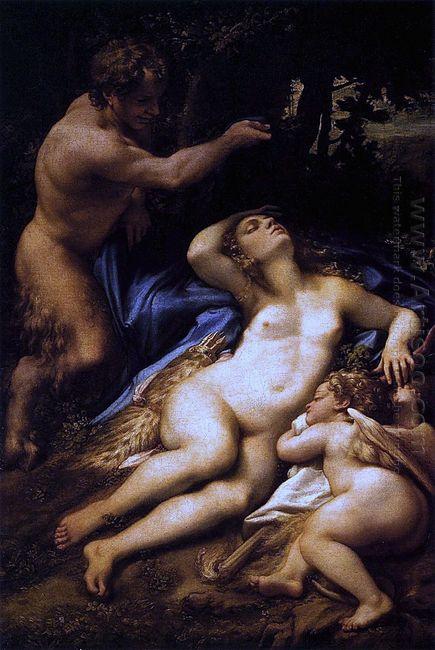 Venus Satyr And Cupid 1528
