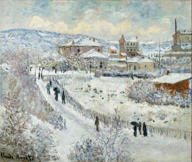 View Of Argenteuil In The Snow