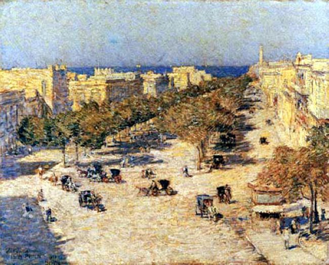 View Of The Paseo Del Prado