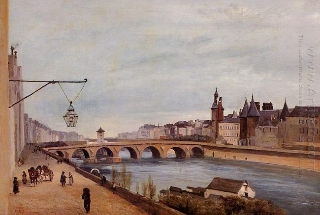 View Of The Pont Au Change From Quai De Gesvres 1830