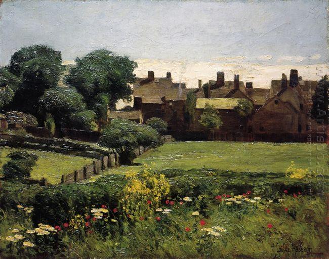 Village Scene 1885