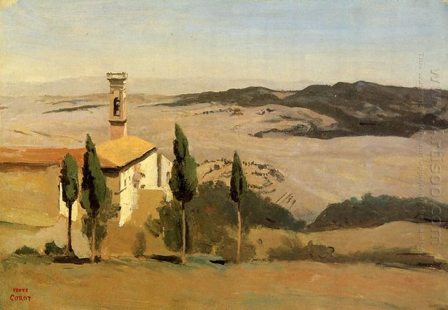 Volterra Church And Bell Tower 1834