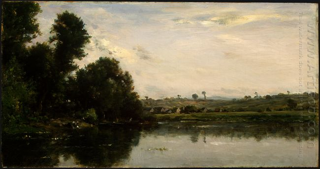 Washerwomen At The Oise River Near Valmondois 1865
