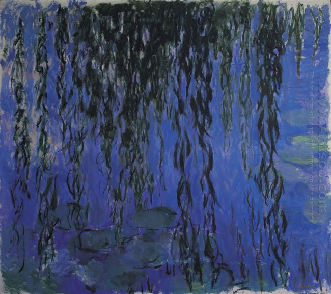 Water Lilies And Weeping Willow Branches 1919