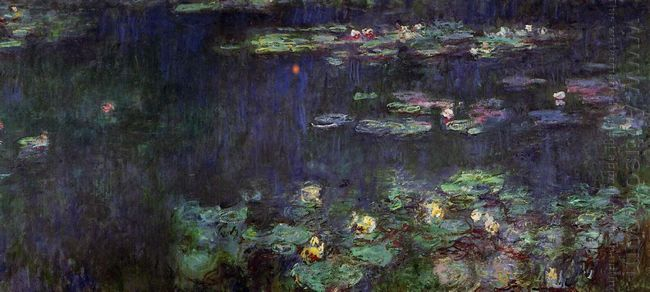 Water Lilies Green Reflection Right Half 1926