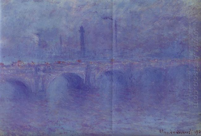 Waterloo Bridge Effect Of Fog 1903
