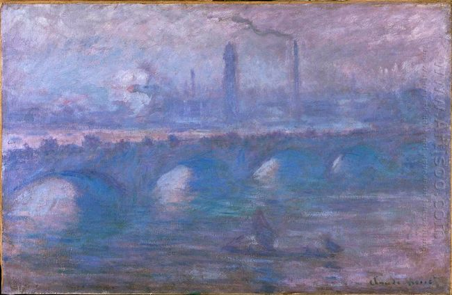 Waterloo Bridge Misty Morning 1901