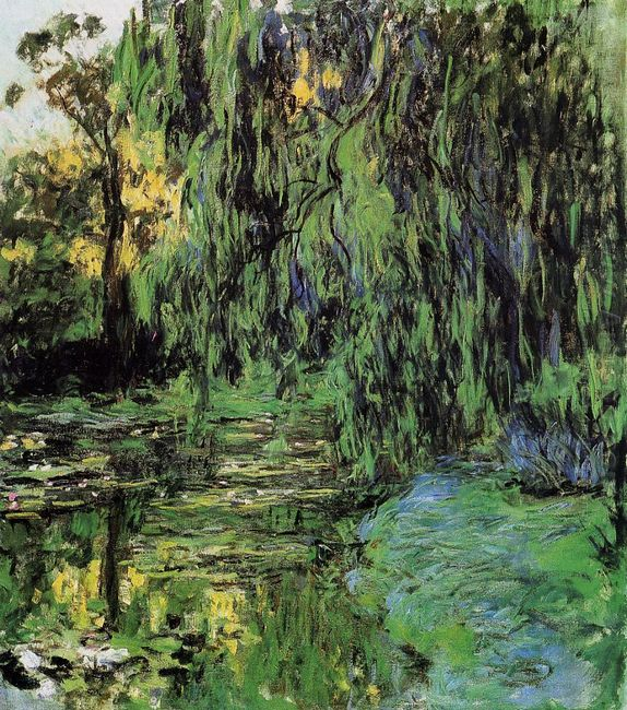 Weeping Willow And Water Lily Pond 1919