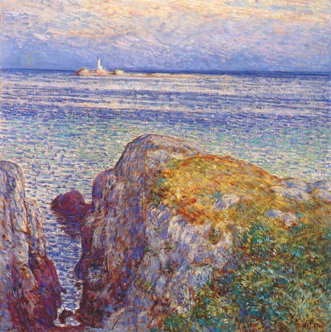 White Island Light Isles Of Shoals At Sundown