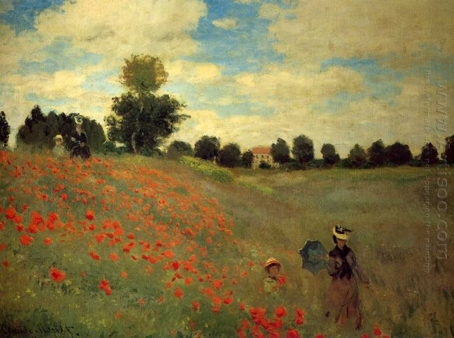 Wild Poppies Near Argenteuil 1873