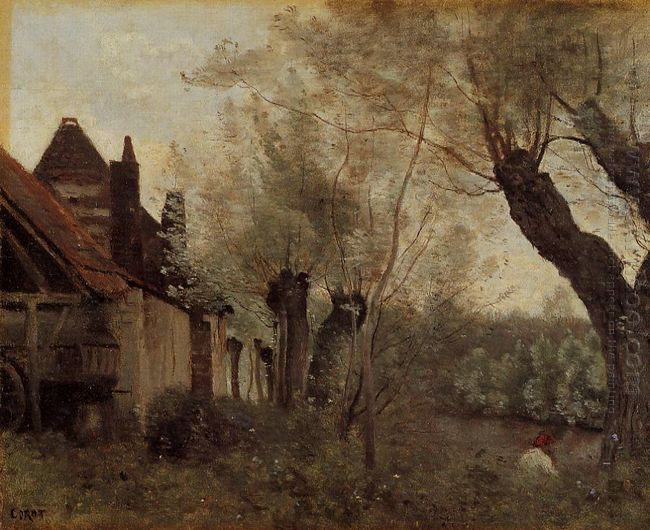 Willows And Farmhouses At Saint Catherine Les Arras 1871