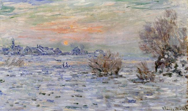 Winter On The Seine Lavacourt 1880
