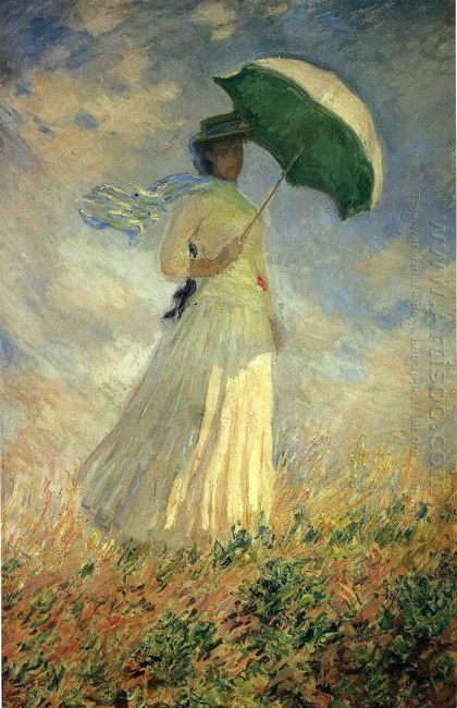 Woman With A Parasol Facing Right Also Known As Study Of A Figur