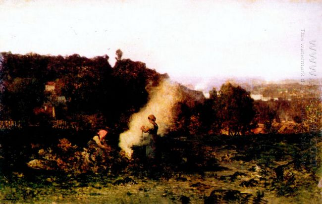 Wood Fire In The Country 1871