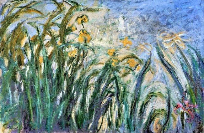 Yellow Irises And Malva 1917