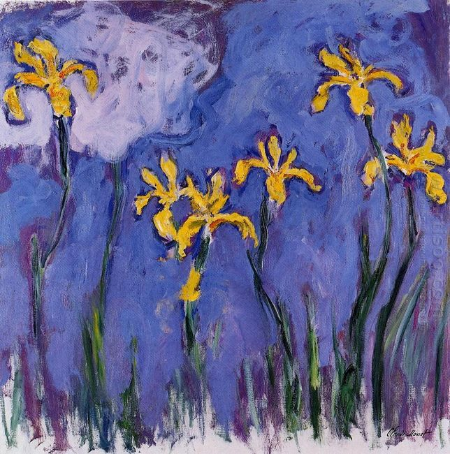 Yellow Irises With Pink Cloud 1917