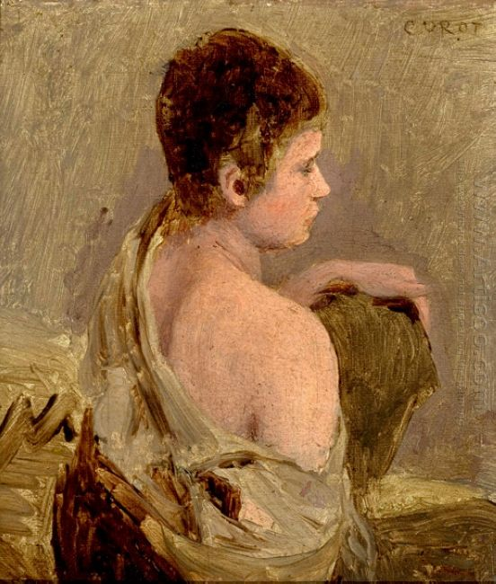Young Man With Naked Shoulder