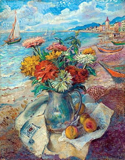 American Still Life On The Beach 1950